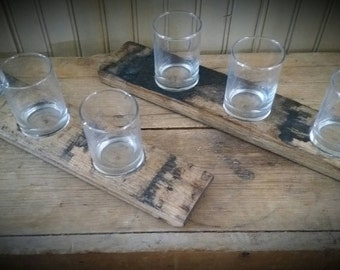 Three Glass Flight Bourbon Stave