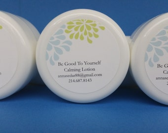 All natural Calming Lotion made with essential oils