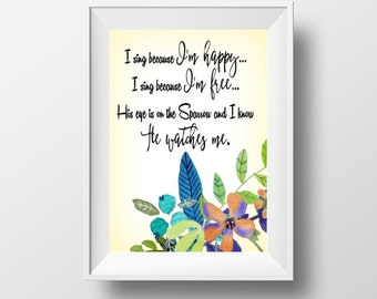 My Eye Is On The Sparrow - 8x10 Printable Quote