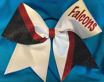 Custom Glitter Accent Cheer Bow with Personalization