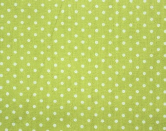 Polka dots Fabric, Polkadot Fabric, Sewing Fabric, Dusty Green, Little Dots, Basic Essential, Cotton, Quilting Materials, Wide, Half Metre