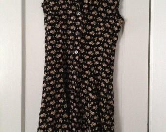 Banana Republic floral button down dress size xs