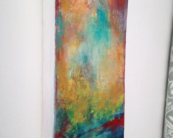 Original abstact painting, small colorful abstact painting, modern abstract acrylic painting