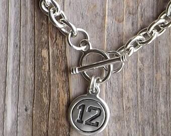 Seattle Seahawks inspired charm bracelet / 12th Woman bracelet / We are Twelves