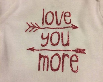 Love You More Onsie,T-Shirt, Toddler, Youth