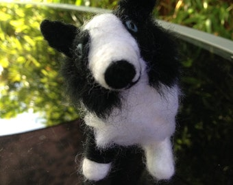 Border Collie Dog Needle Felt - Made to Order