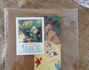 Mini Alice in Wonderland handmade greeting card