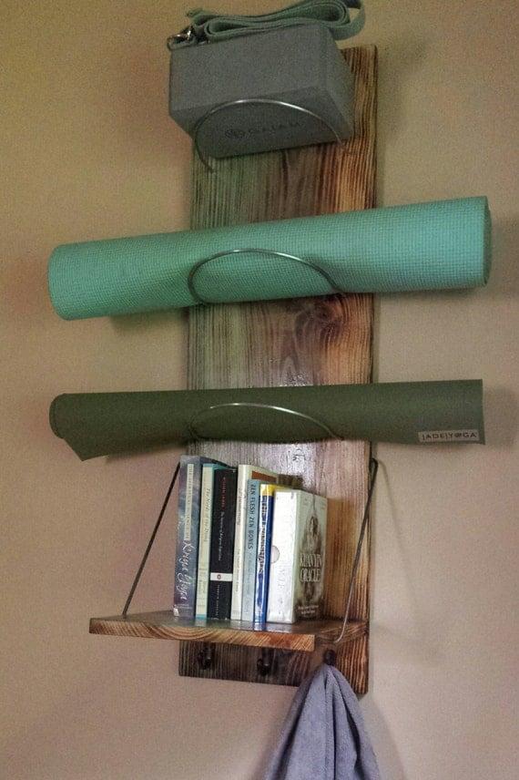 Yoga mat storage shelf supplies by