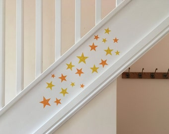 Star Wall Stickers, Star Wall Decals, Removable Stars, Stars, Star Wall Art, Star Decor, Yellow and Orange Stars, Star Stickers, Star Decals