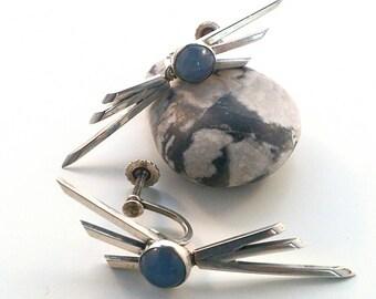 Swedish kaplan GK modernist silver earrings