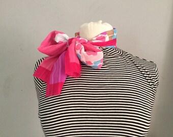 Vintage| Pink Patterned Scarf