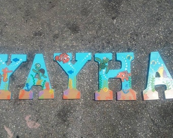 Finding Nemo painted letters