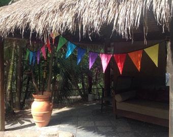 Bunting, Rainbow, Fabric Garland, Decoration, Kids bedrooms, 4 metres 16 flags, Eumundi Kids