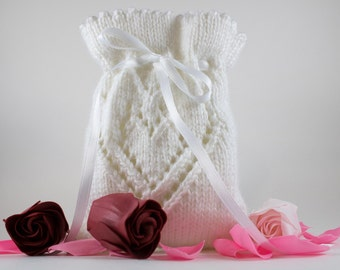 Knit Heart Sachet - Lavender Sachet - Potpourri Holder - Soap Holder