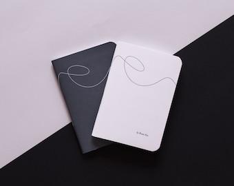 LOOSE THREAD, Set of 2 handmade sewn A6 notebooks