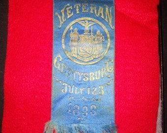 Original Gettysburg 40th Anniversary Veteran's Ribbon