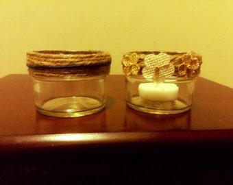 Small (4 oz) Mason Jars, Rustic Wedding Decor, Centerpieces