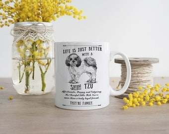 Shih Tzu Mug ~ Perfect Gift can be personalised