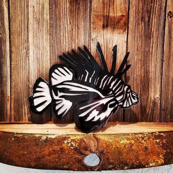 items similar to metal lionfish wall art plasma art