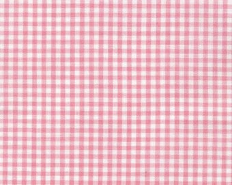 "Pink Gingham, 1/8"" pink and white checked fabric, Robert Kaufman Fabric, 100% cotton fabric"