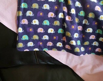 Purple Elephant Fleece Blanket