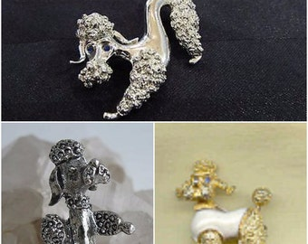 Vintage, Poodle Set, Gerry's Duo, Gerry's, Poodle, Pins, Brooches, Costume Jewelry