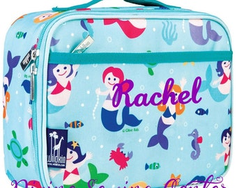 Personalized Lunch Box. Mermaid Collection. Monogrammed Lunchbox for girls. Mermaid Lunchbox.