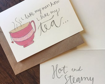 Tea Valentine's Day card
