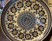 Handmade Boleslawiec Polish Pottery Large Plate