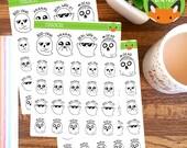 Ghosts with Sass Spooky Emoji Halloween Sticker Set - Planner Stickers - Planner Decorations - Kikki-K & Erin Condren Sticker Sets