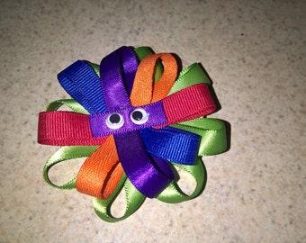 4 set of ninja turtle hair bows