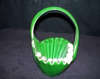 1960's Art Glass Basket