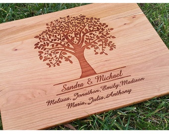 Tree Cutting Board, Personalized Cutting Board, Family Tree, Personalized Gift, Anniversary Gift, Housewarming Gift