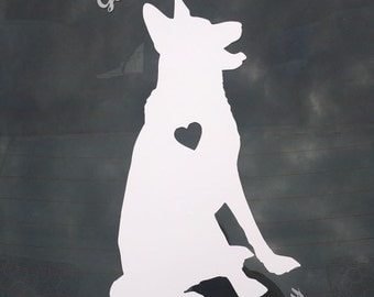 German Shepherd Servant decal; Dog mom; German Shepherd; Vinyl Decal; Car decal; decor