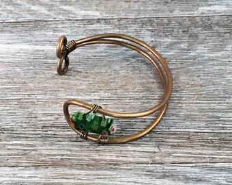 Wire Wrap Bead Bracelet