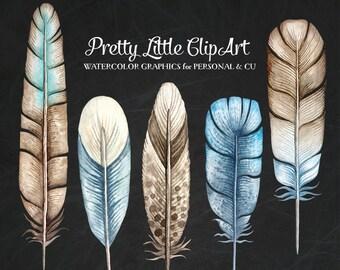 Tribal Feathers Clipart - Feathers Clip Art, Feather Clipart, Feather, Feather Graphics - Commercial Use CU OK