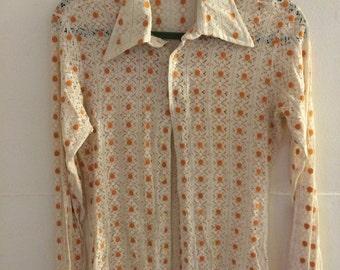 Oleg Cassini by Burma vintage 70's shirt