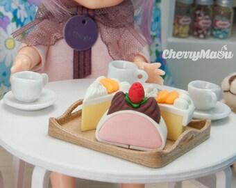 Meal tray miniatute 1:12 for diorama, dollhouse lati pukifee pullip dal barbie blythe 3D printing