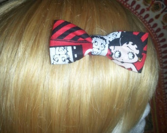 Small Betty Boop hair bow with clip