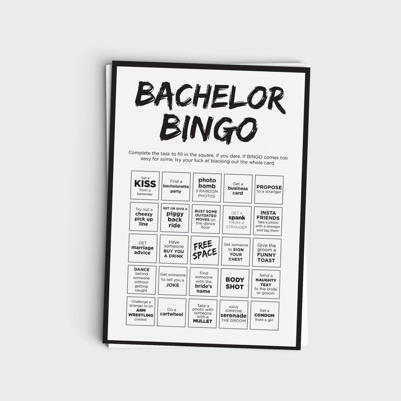 Fun Bachelor Party Bingo Scavenger Hunt Game Printable