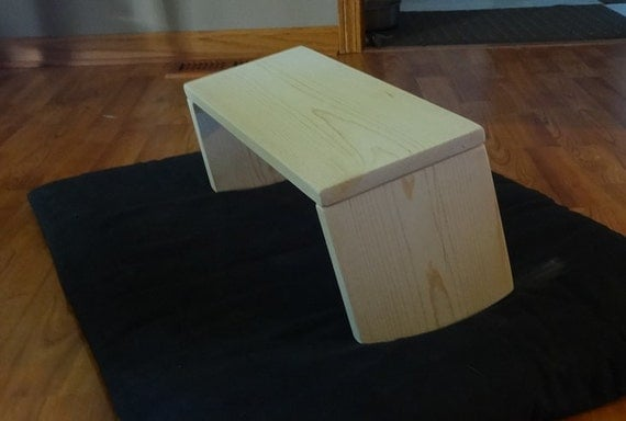 Meditation Bench Folding Slanted Rounded Legs Handcrafted