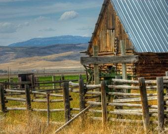 Deserted Wyoming Ranch  Museum quality Fine Art paper or Kodak Endura Lustre