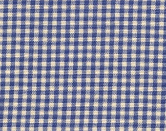 Sky Blue Gingham Cotton Fabric By-the-Yard