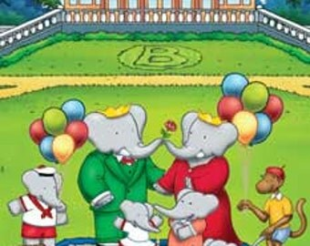 Babar Poster - Picnic At The Park - Rare Hot New 24x36