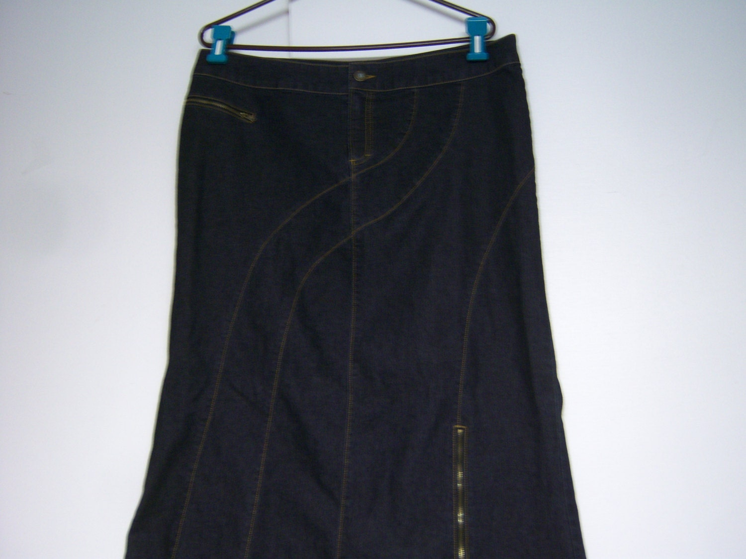 vintage bisou bisou skirt denim skirt marked size 16