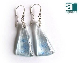 Fusing glass earrings