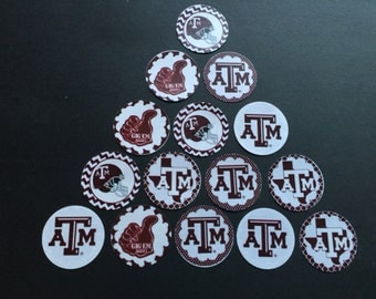 Texas AM Buttons Set of 15