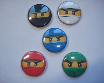 Ninjago Pins Set of 15 - 3 of Each