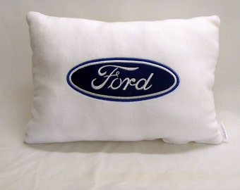 Embroidery pillow with Ford logo