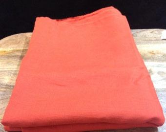 100% Linen in Burnt Orange 152cm wide 4 m in length